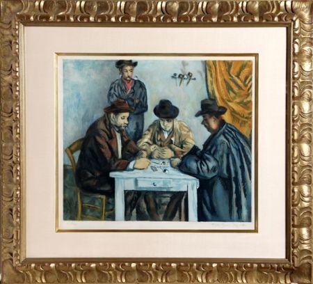 Aquatinte Villon - Les Joueurs des Cartes (The Card Players) after Cezanne