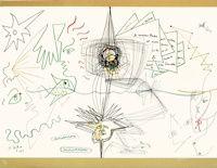 Lithographie Cocteau - Les lettres