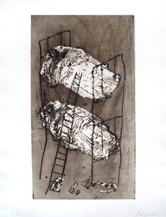 Gravure Barcelo - Les lits