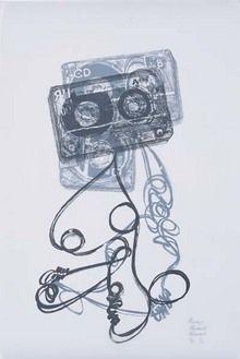 Lithographie Marrey - Les Méduses