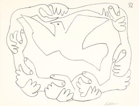 Lithographie Picasso - Les mains liées IV