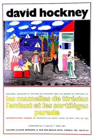 Offset Hockney - Les Mamelles de Tirésias Galeri Claude Bernard