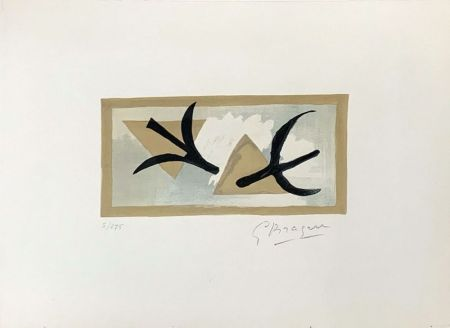 Lithographie Braque - Les Martinets