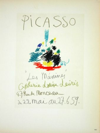 Lithographie Picasso (After) - Les  Menines