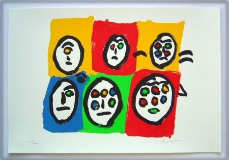 Lithographie Ionesco - Les multi-yeux