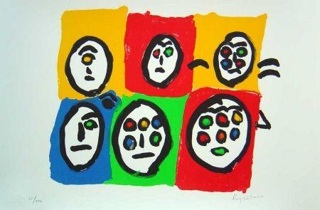 Lithographie Ionesco - Les multi voeux