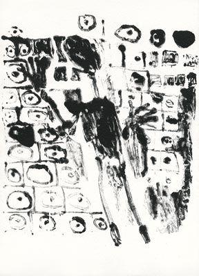 Lithographie Dubuffet - Les murs