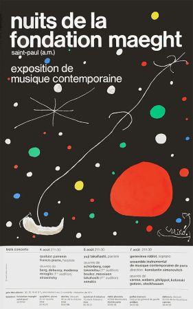 Lithographie Miró - LES NUITS DE LA FONDATION MAEGHT (1967).