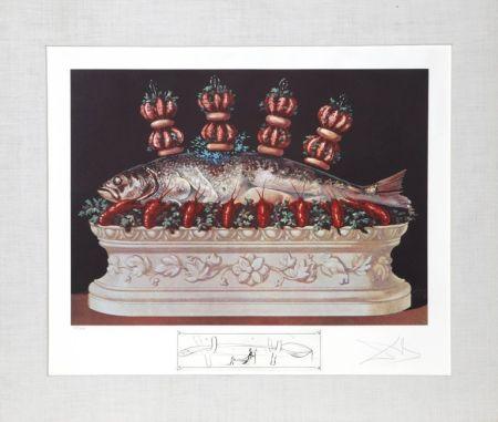 Lithographie Dali - Les panaches panaches from the Portfolio: Les Diners de Gala
