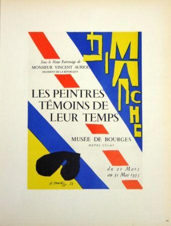 Lithographie Matisse - Les Peintres Témoins de Leur Tepls
