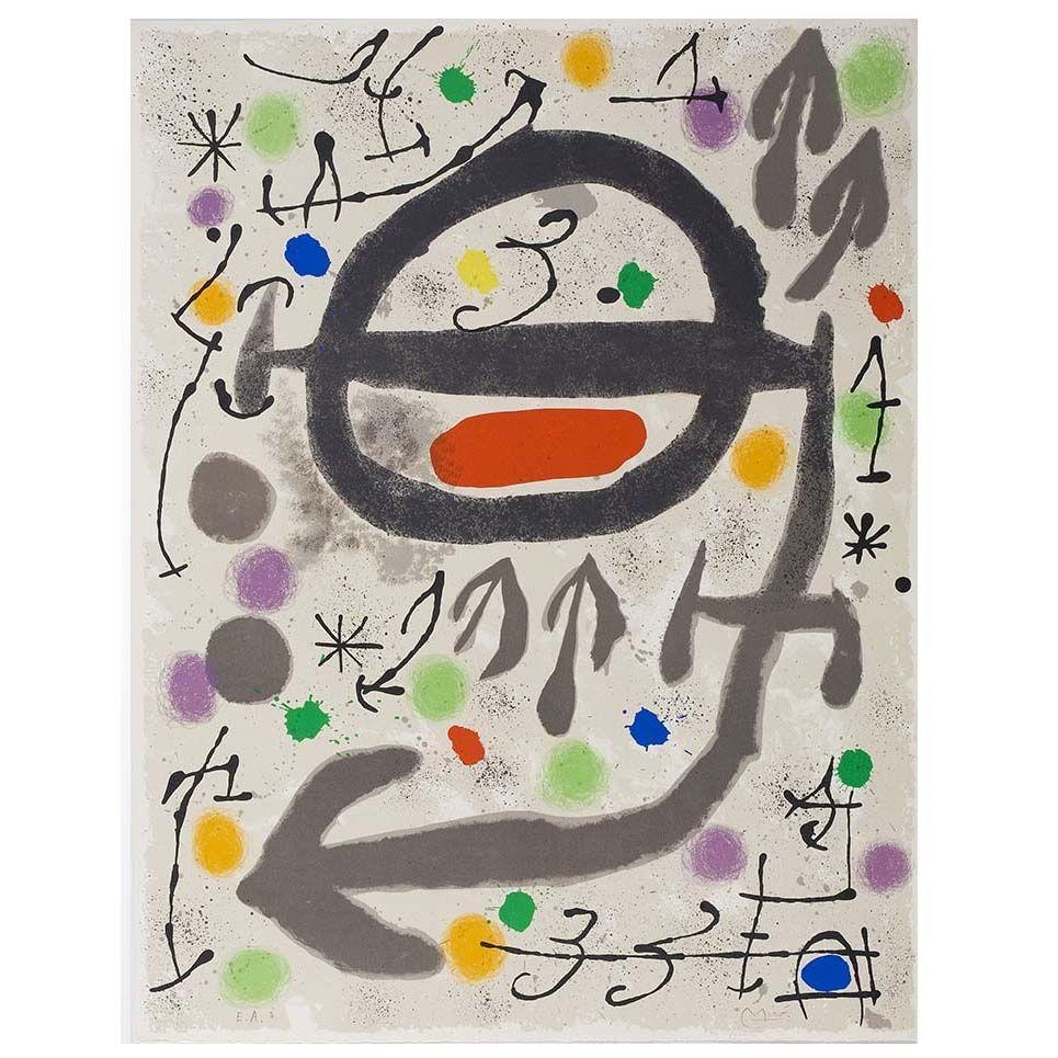 Lithographie Miró - Les Perseides: Plate 2