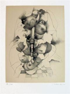 Lithographie Daboval - Les phantasmes de Berthe 3