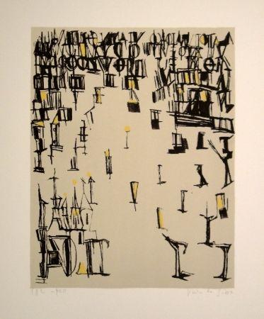 Lithographie Vieira Da Silva - Les piétons de noël