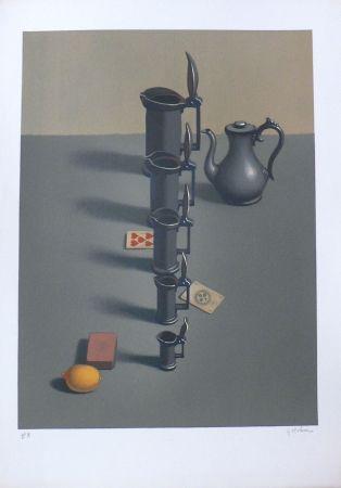 Lithographie Rohner - Les Pichets