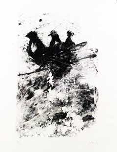 Lithographie Barcelo - Les pigeons