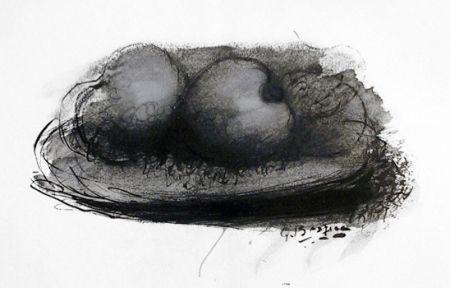 Lithographie Braque -  Les Pommes