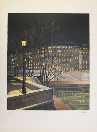Lithographie Lecoindre - Les quais