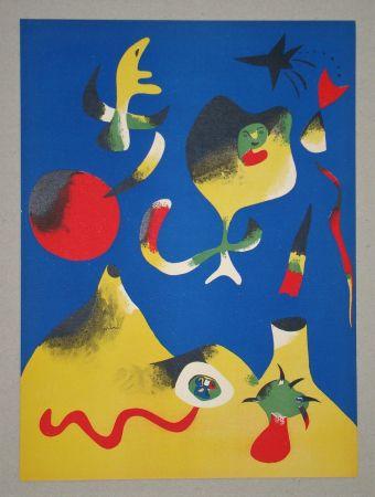 Lithographie Miró (After) - Les quatre éléments - Air