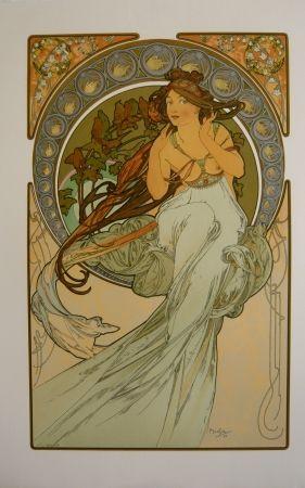Lithographie Mucha - Les quatre saisons 3
