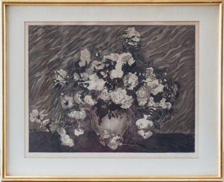 Eau-Forte Et Aquatinte Villon - Les roses (d'après Van Gogh)