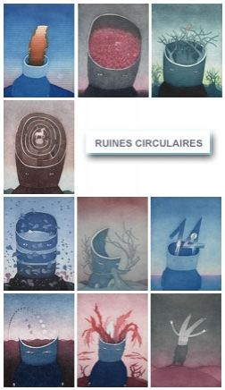 Eau-Forte Et Aquatinte Folon - Les Ruines Circulaires - The Circular Ruins (complet suite)
