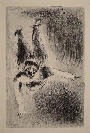 Eau-Forte Chagall - Les sept Peches capitaux: La Colere