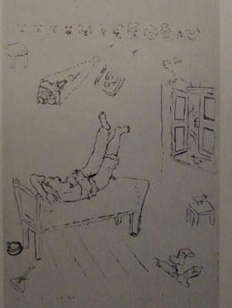 Eau-Forte Chagall - Les sept Peches Capitaux: La Paresse 1