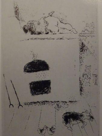 Eau-Forte Chagall - Les sept Peches Capitaux: La Paresse 2