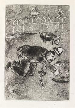 Eau-Forte Chagall - Les sept Peches capitaux: L'Avarice 11