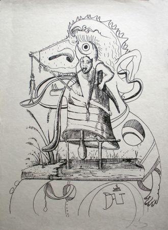 Lithographie Dali - Les Songes drolatiques de Pantagruel 11