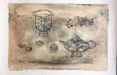 Lithographie Zao - Les theieres