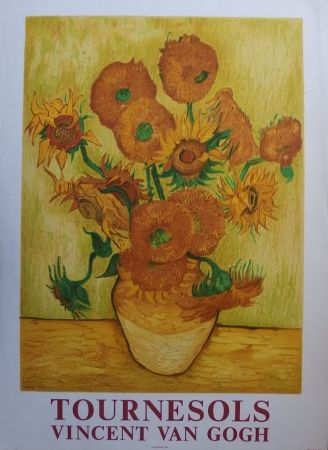 Lithographie Van Gogh - Les Tournesols