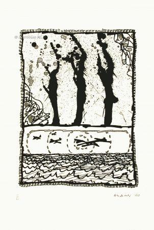 Eau-Forte Et Aquatinte Alechinsky - Les trois coups