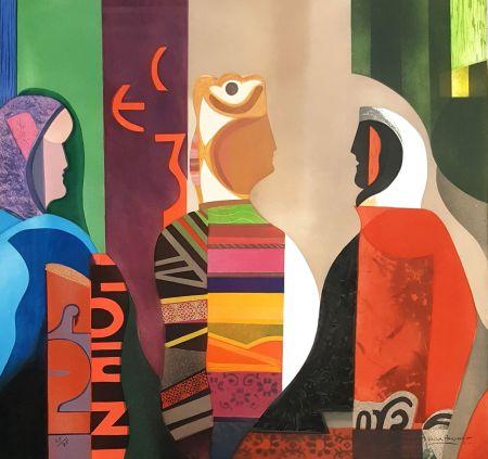 Gravure Papart - Les Trois Femmes