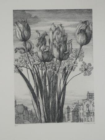 Eau-Forte Desmazières - Les tulipes
