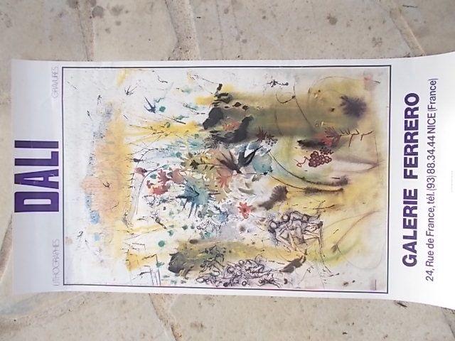 Affiche Dali - Les vendanges