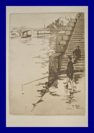 Eau-Forte Et Aquatinte Bejot - L'escalier