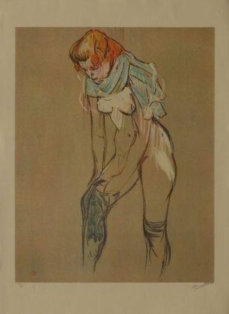Lithographie Toulouse-Lautrec - L'Essayage des bas I