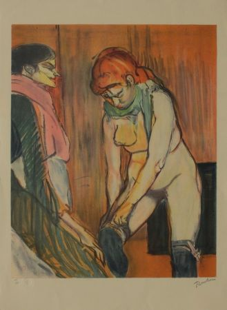Lithographie Toulouse-Lautrec - L'Essayage des bas II