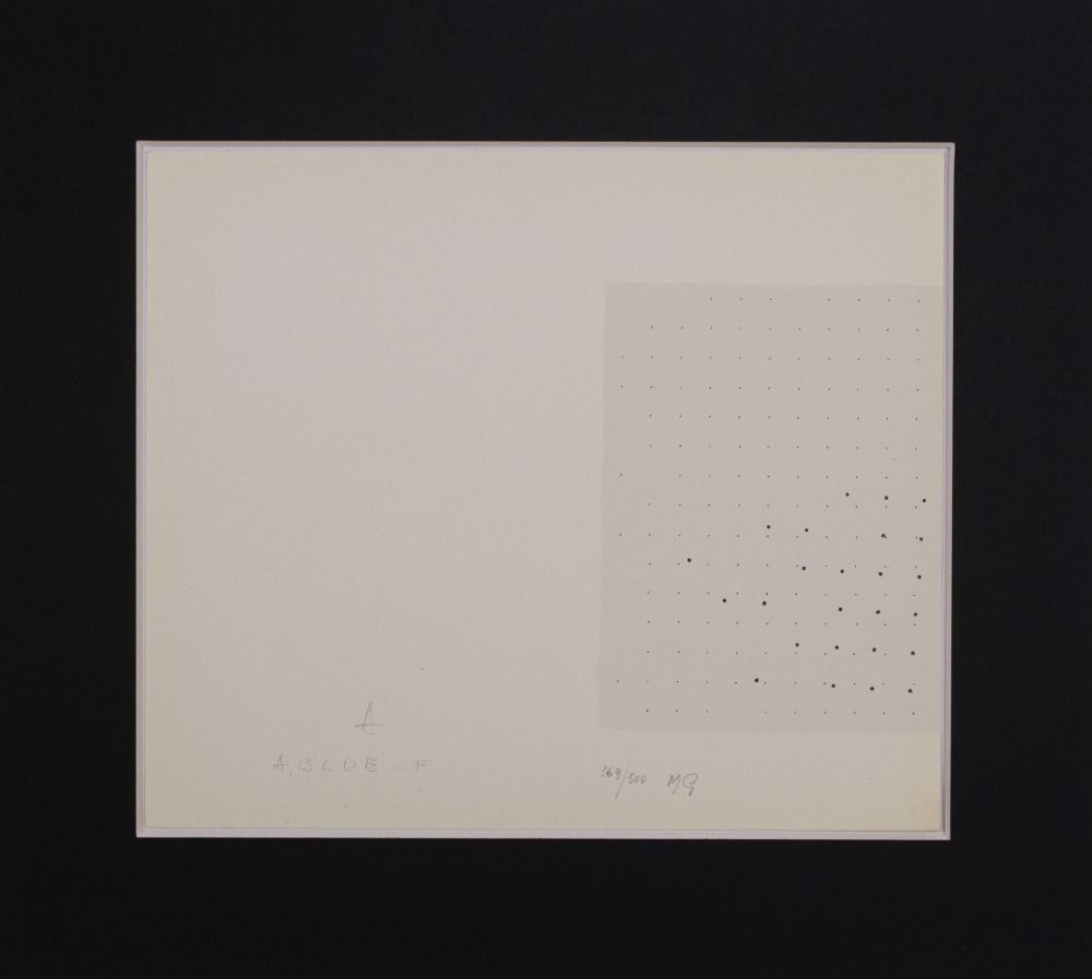 Sérigraphie Gastini - Lettera A