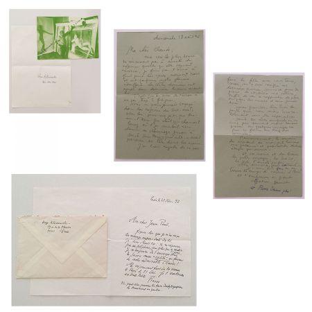 Aucune Technique Klossowski - Lettres manuscrites