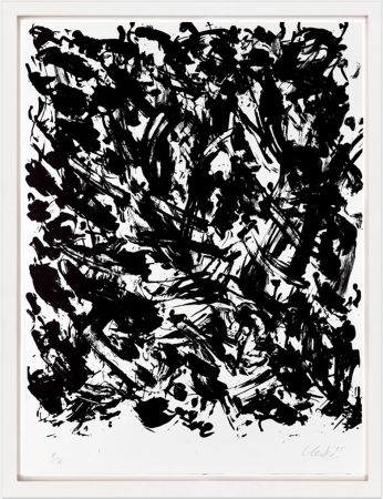 Lithographie Uecker - Leuchtend I, 2005