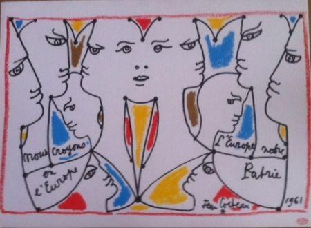 Lithographie Cocteau - L'Europe