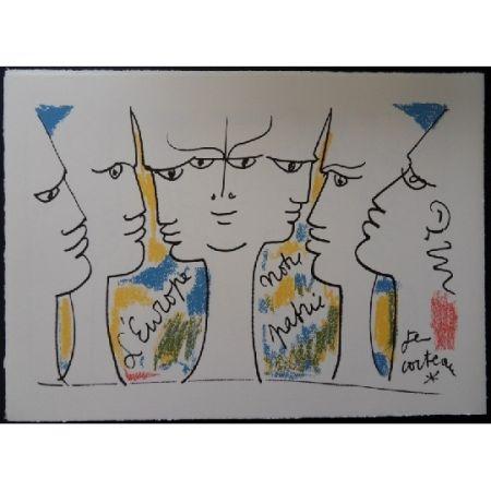 Lithographie Cocteau - L'Europe notre patrie