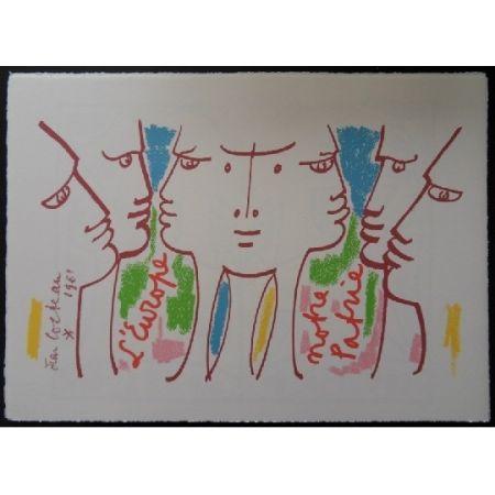 Lithographie Cocteau - L'Europe notre patrie 2