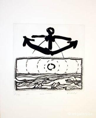 Gravure Alechinsky - Lever L'ancre