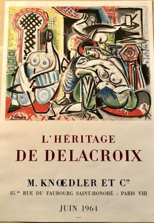 Lithographie Picasso - L'héritage de Delacroix