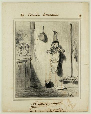 Lithographie Daumier - L'Héritier présomptif
