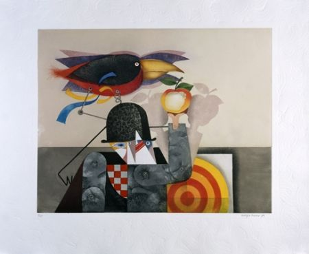 Aquatinte Marin - L'homme-oiseau