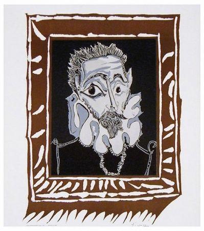 Lithographie Picasso - L'Homme à la Fraise (Man with Ruff)